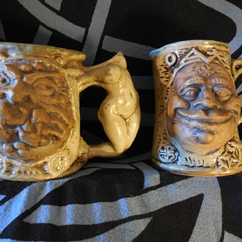 Vintage 1971 Jim Rumph Pottery Tankards - Pottery