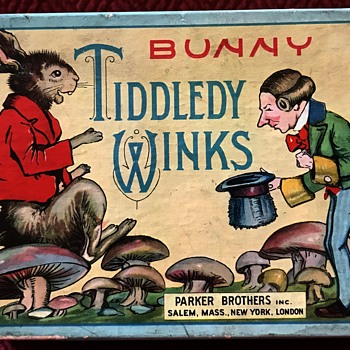 1930's Parker Brothers Bunny Tiddledy Winks Game - Games