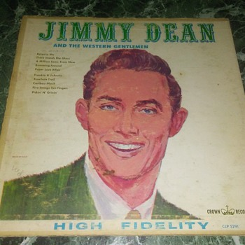 Mr. Jimmy Ray Dean And The Western Gentlemen...On 33 1/3 RPM Vinyl - Records