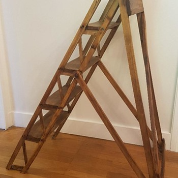 """American Steps""  - wooden ladder - info on the company required - Tools and Hardware"