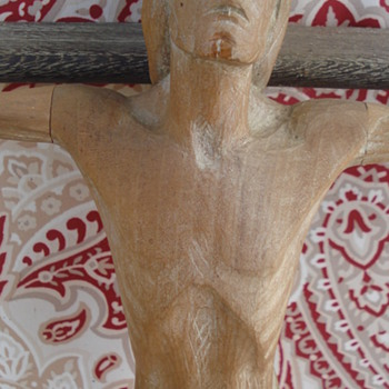 WOOD CARVED CRCIFIX