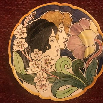 Beautiful Art Deco plate - Art Nouveau