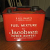 Old Jacobsen 2 cycle mower gas can