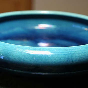 Very Large, Blue Footed Bowl - Awaji! - Pottery