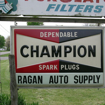 RARE CHAMPION SPARK PLUG 6FT X 4FT OUTDOOR SIGN  - Signs