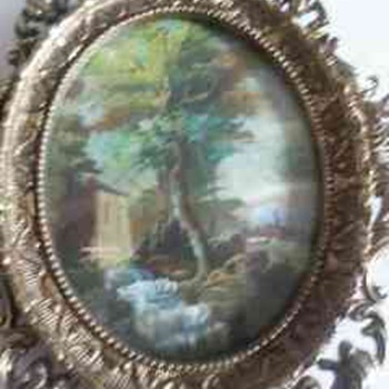 two asian/oriental miniture oil paintings. - Asian