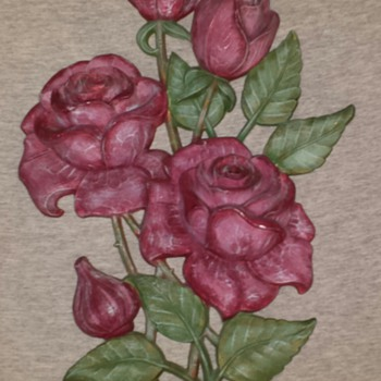 Vintage Roses Wall Plaque... Hand Painted