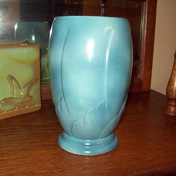 Frankoma Blue #75 Vase