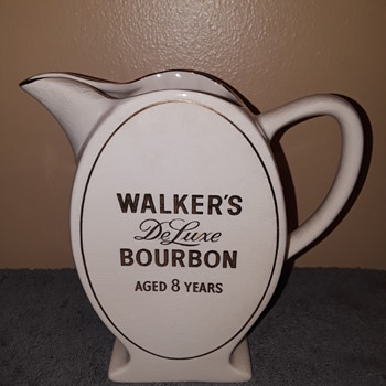WALKER'S DeLuxe BOURBON ceramic pitcher - Advertising