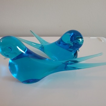 Murano glass parakeets  - Animals
