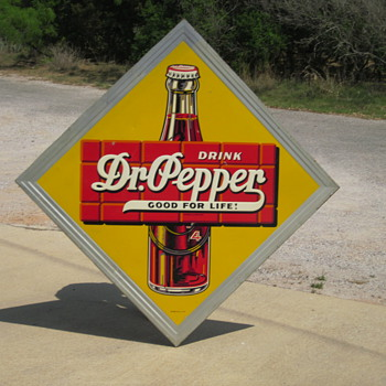 "1940's Dr Pepper Tin 45"" by 45"" - Advertising"