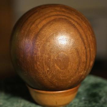 Round Wooden Ball - Mid-Century Modern