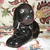 BLACK CERAMIC (PIGGY) BANK DOG