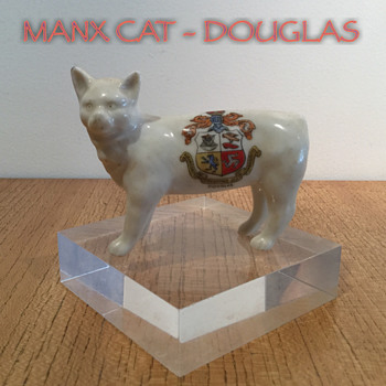 CRESTED CHINA MANX CAT - DOUGLAS - Figurines