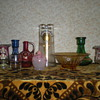 My small collection of Bohemian enamelled glass.