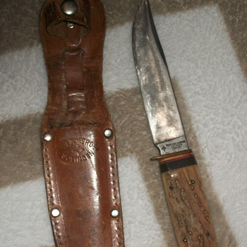 vintage rich. abr herder huntin knife. - Sporting Goods