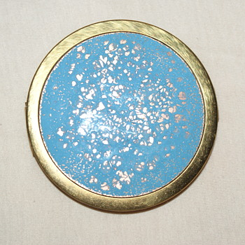 Vintage Enamel Compact, Possibly Made in Germany - Accessories