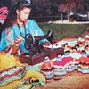 Singer Sewing Machine on Vintage Post Card