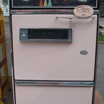 New old stock (NEVER USED W/ORIGINAL BOXES) 1962 CALORIC PINK KITCHEN, OVEN, STOVE, SINK, HOOD, BACK SPLASH - Kitchen