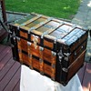 Rare Flat top travel trunk