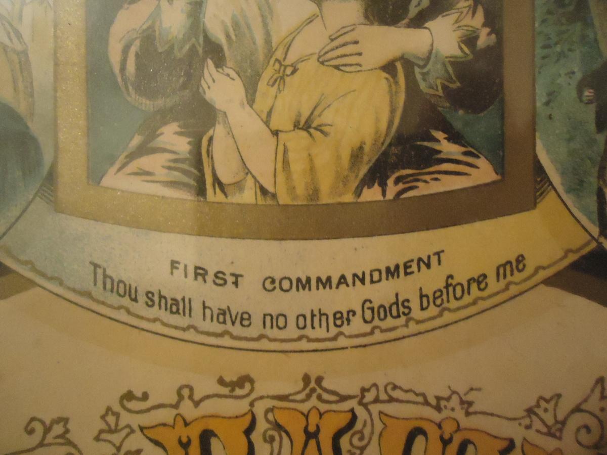 a true antique dated 1883 the lords prayer u0026 the ten
