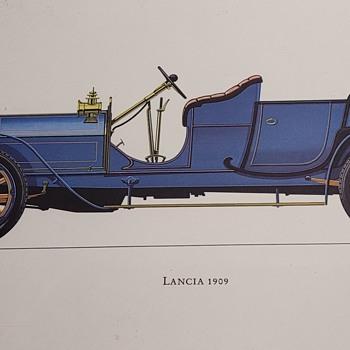 1909 Lancia Print - Posters and Prints