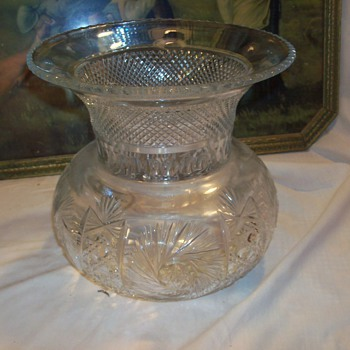 victorian crystal womens spitoon - Glassware