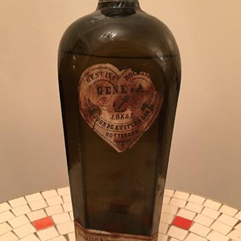 Sealed John De Kuyper & Son Bottle. Primitive! Help! - Bottles