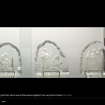 Fostoria Nativity Set!!! - Glassware