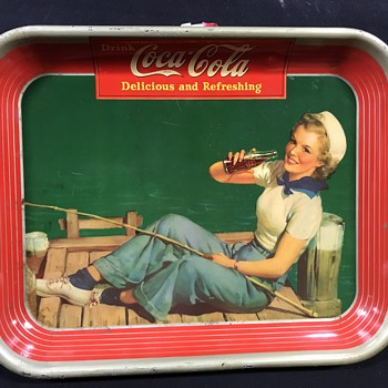 1940 Coca Cola tray original  - Coca-Cola