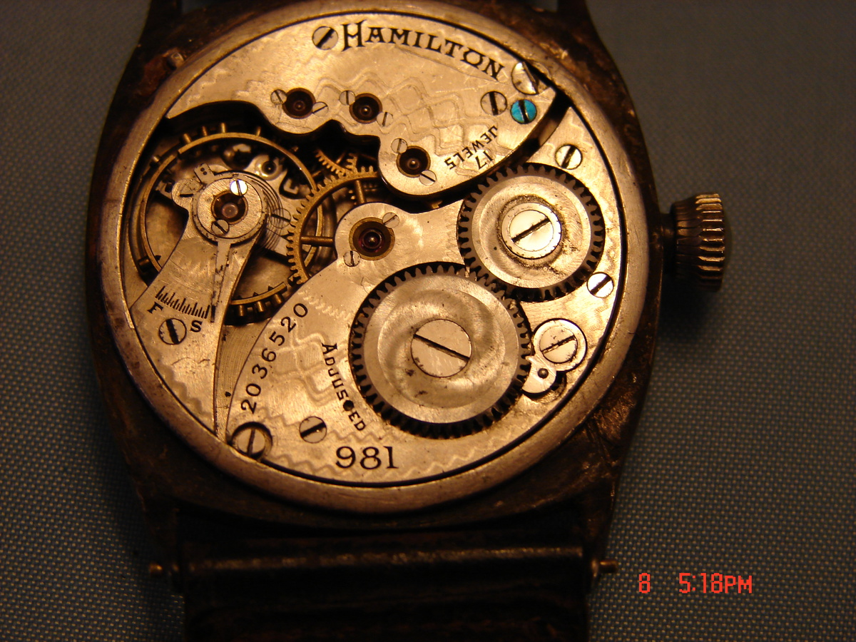 Vintage Hamilton 981 Wristwatch Cushion Sterling Fahys Case Rare or not? |  Collectors Weekly