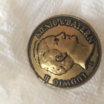 Another find in my collection of buttons  - World Coins
