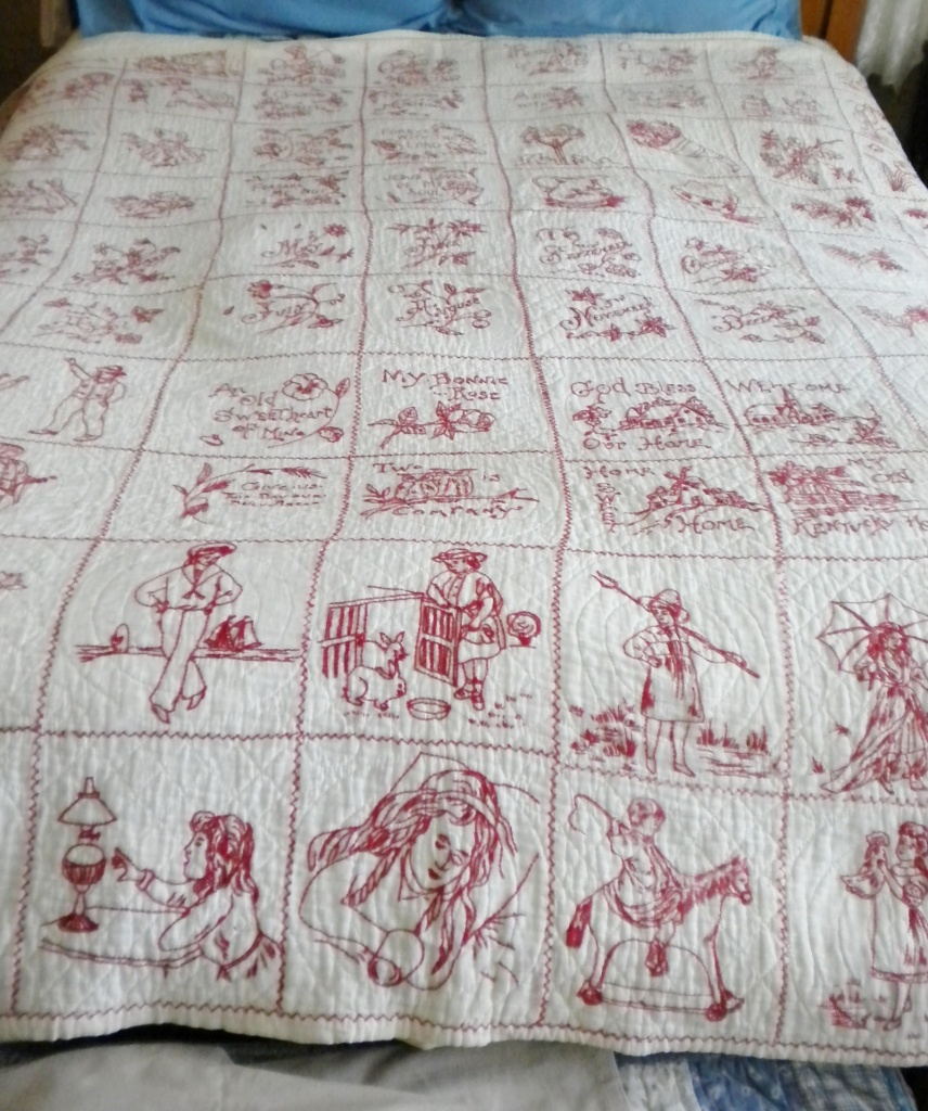 Quilting Bee Redwork Patterns : RedWork Quilt c1900 s Collectors Weekly