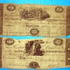 1813 Bank of Steubenville $10 Ten Dollar Note, serial number is written by hand, believe the bills and paper are original