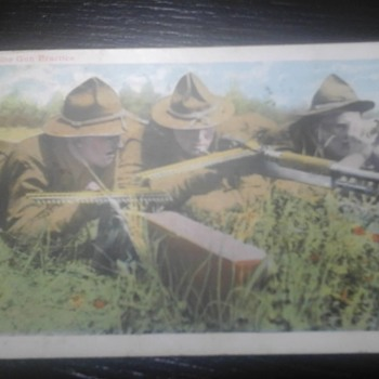 "Camp Upton "" Machine Gun Practice"" - Postcards"