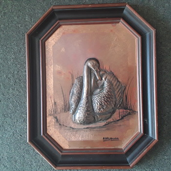 Magowan copper swan - Fine Art