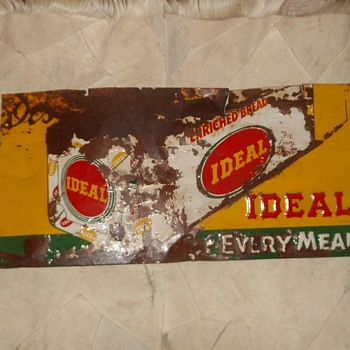 Ideal Enriched Bread Sign with Just a Touch of Rust - Signs