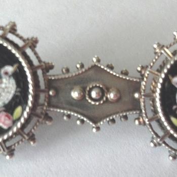 Micro Mosaic Silver Dove brooch  - Fine Jewelry