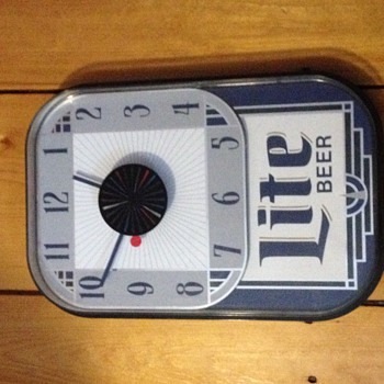 Miller Lite Beer rectangular clock ca 1992