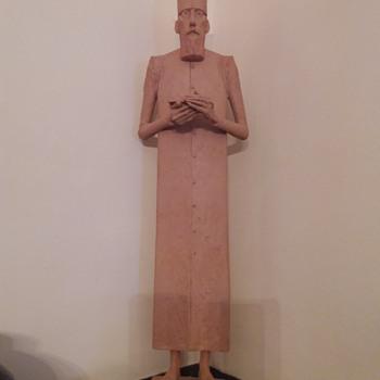 """Béla Szakáts original contemporary terracotta : """" Munk """" - Fine Art"""