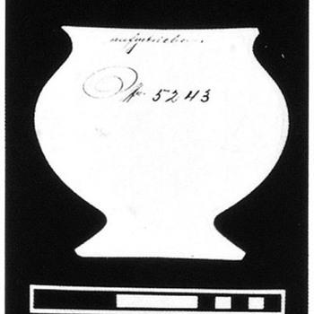PN II-5243 ca 1907, in Titania opal mit blattgrun w/ silver overlay for Tadessa - Art Glass