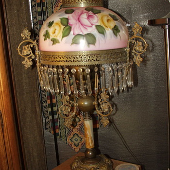 Antique Victorian kerosene parlor lamp - Lamps