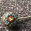 Micro mosaic stickpin
