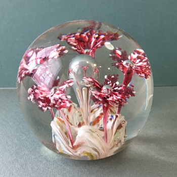 Old Glass Paperweight - Art Glass