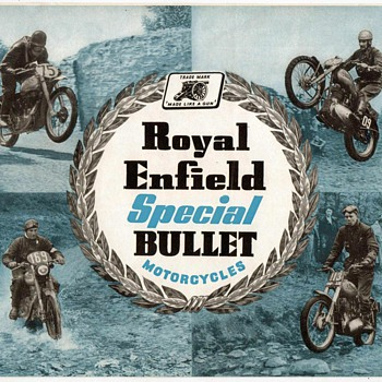 "1954 - ""Royal Enfield"" Motorcycles Brochure - Paper"