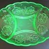 Bagley Glass Uranium Divided Dish - Alexandra Pattern - 3121