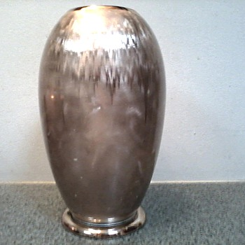 "WMF ""Ikora"" Silverplated 10"" Vase / Stunning Art Deco Design /Pattern Circa 1925-1950 - Art Deco"