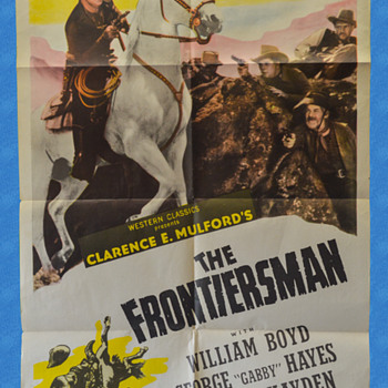 1938 Hopalong Cassidy Movie Poster - The Frontiersman