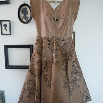 1950's Taffeta Party Dress - Womens Clothing
