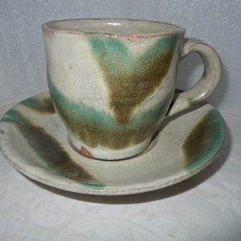 More Japanese Art Pottery Cup & Saucer